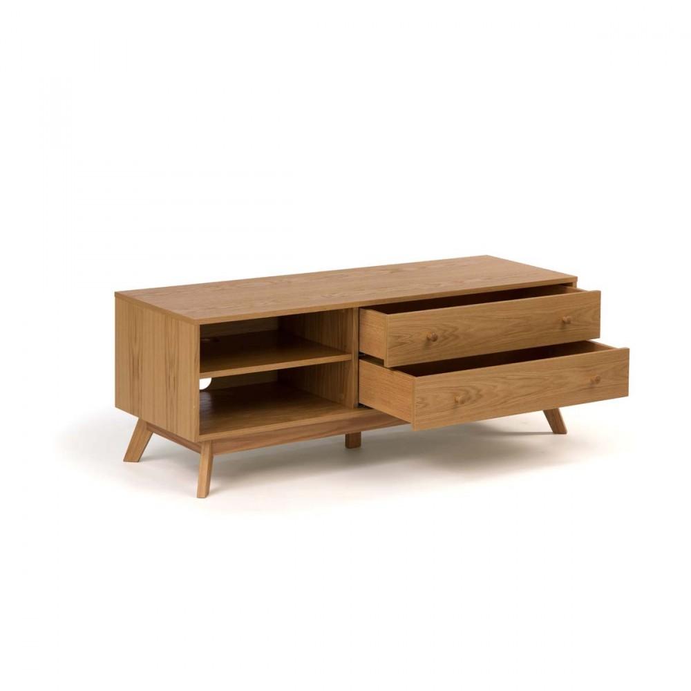 meuble tv bois massif fly ? artzein.com - Meuble Tv Design Fly