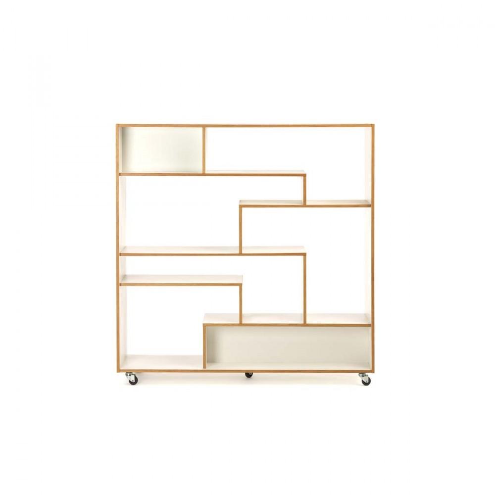 biblioth que design roulettes. Black Bedroom Furniture Sets. Home Design Ideas