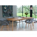 "Lot de 2 chaises design Danwood 'flexback"" Soft gris clair"