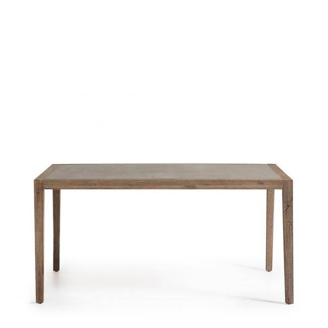 Table à manger de jardin bois et plateau minéral Vetter