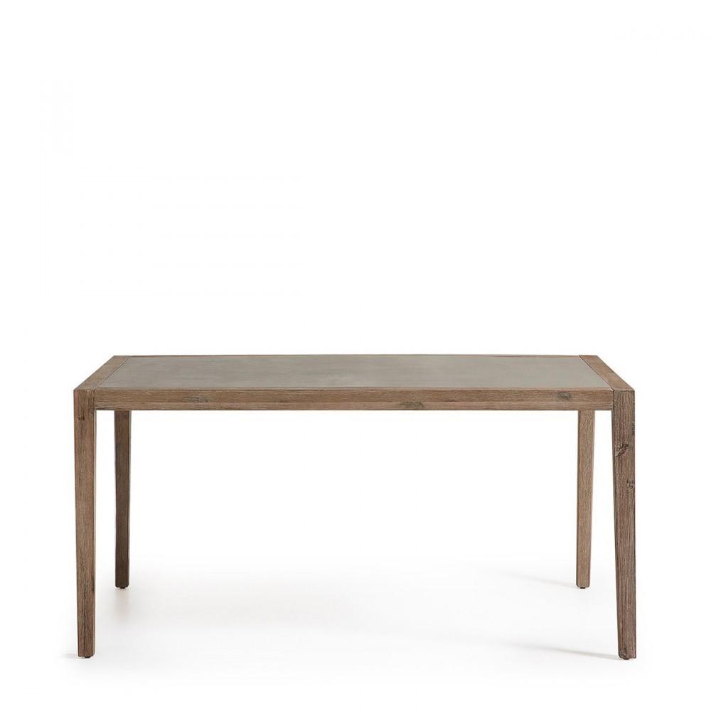 Table à manger indoor/outdoor en bois et superstone - VETTER