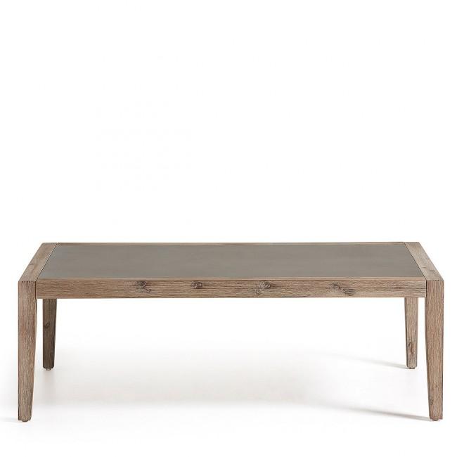 Table basse indoor/outdoor bois et minéral 120x70 Vetter