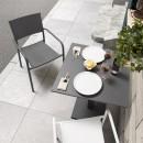 2x fauteuils de jardin design aluminium Leday