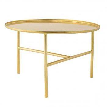 Table d'appoint finition dorée Ø65 Pretty