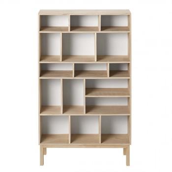 Biblioth Que Design Scandinave Blanco Par