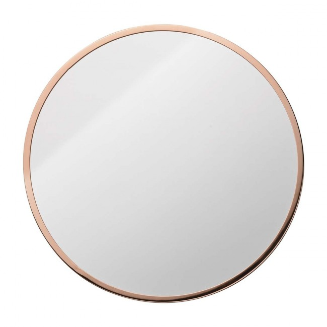 Miroir rond mural design bloomingville par for Miroir rond grand format