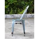 Multipl'X chaise (lot de 2) galvanisées grise de cote