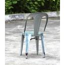 Multipl'X chaise (lot de 2) galvanisées gris de dos