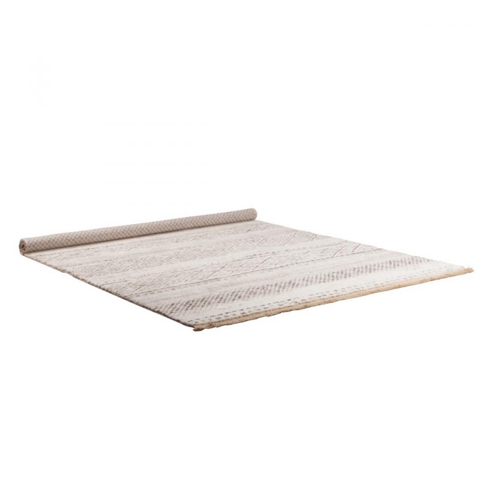 tapis de salon beige style nordique polar zuiver