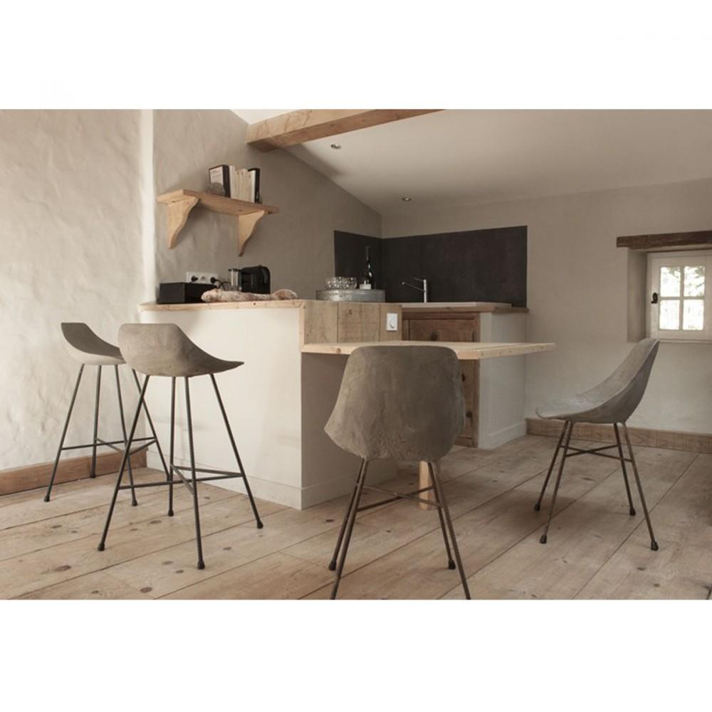 Chaise De Bar Design: Chaise Design En Béton Hauteville By Drawer