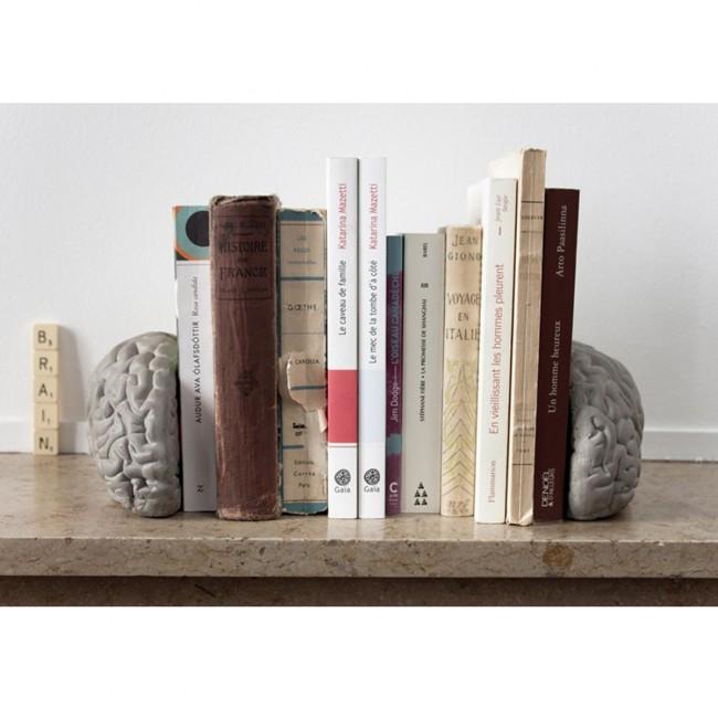 Serre-livres béton Gray Matters