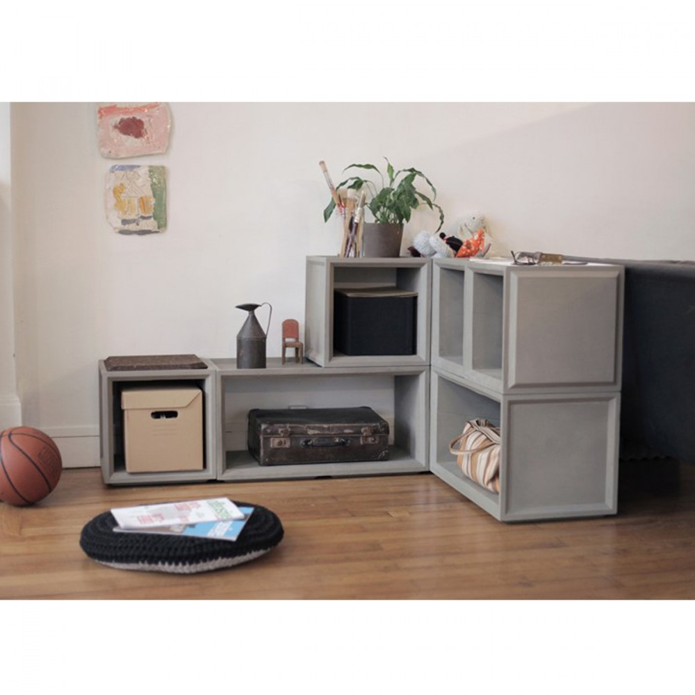 module de rangement en b ton plus s by. Black Bedroom Furniture Sets. Home Design Ideas