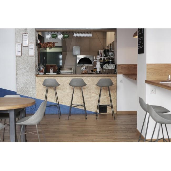 Chaise de bar design béton Hauteville