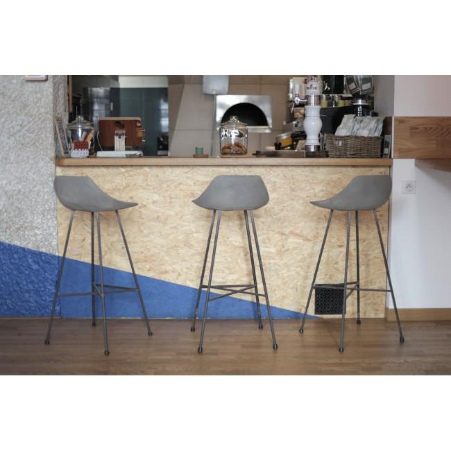 Tabouret de bar indoor/outdoor béton Hauteville