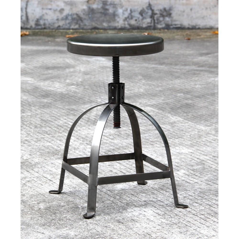 tabouret de bar industriel vis henri ford by drawer. Black Bedroom Furniture Sets. Home Design Ideas