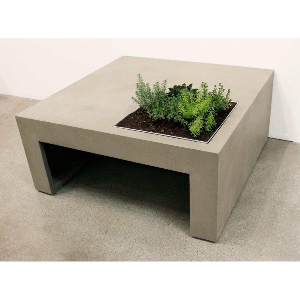 table basse en b ton carr e green drawer. Black Bedroom Furniture Sets. Home Design Ideas