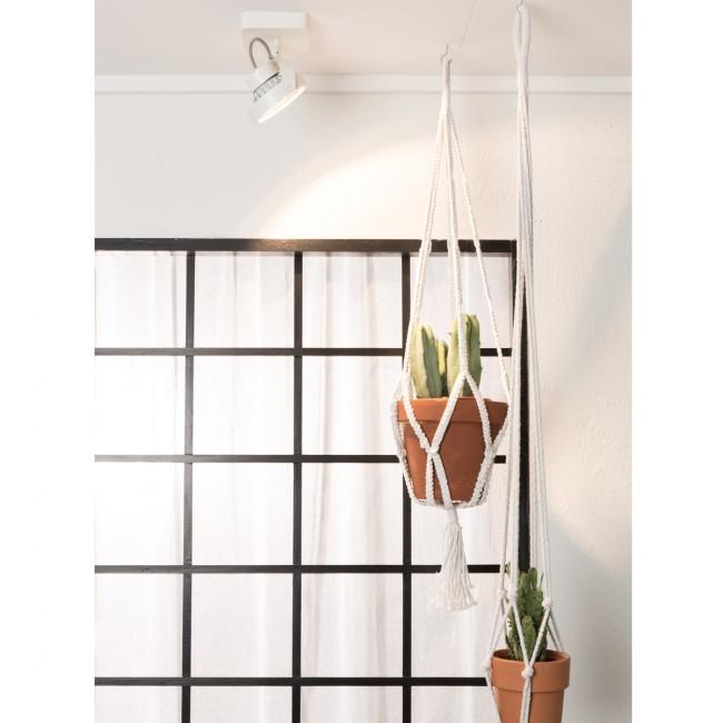 Applique/plafonnier design LED Dice blanc