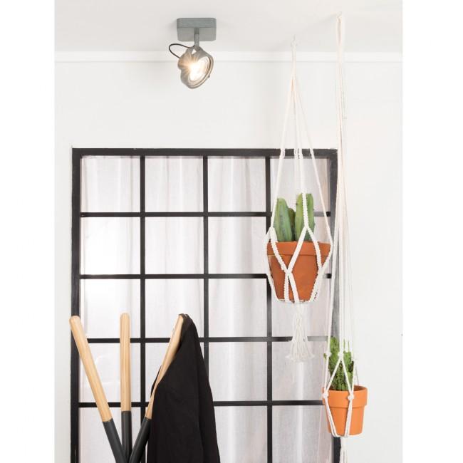 Applique/plafonnier design LED Dice gris