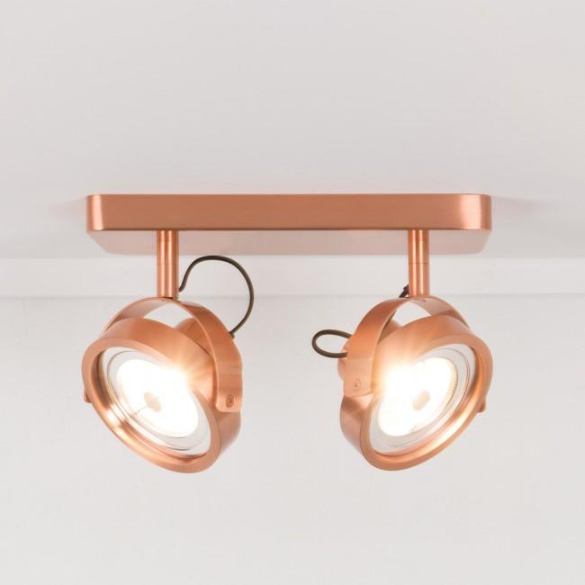 Applique/plafonnier design LED double Dice cuivre