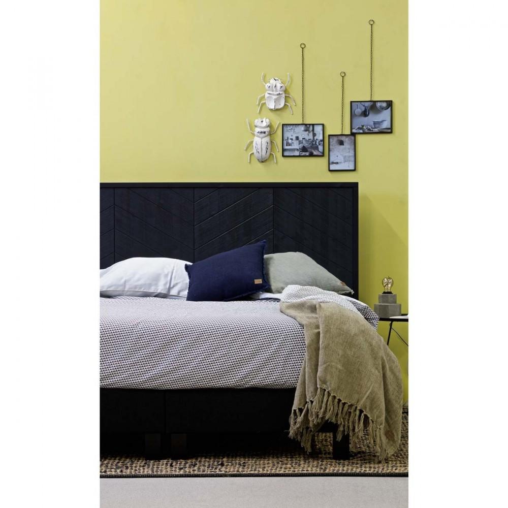 t te de lit en bois massif chevron par. Black Bedroom Furniture Sets. Home Design Ideas