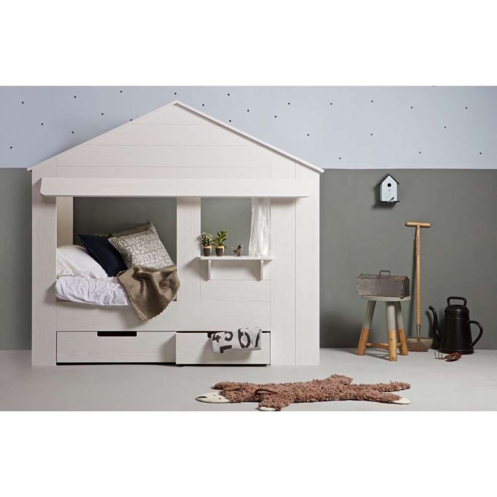 lit enfant cabane en pin huisie par. Black Bedroom Furniture Sets. Home Design Ideas