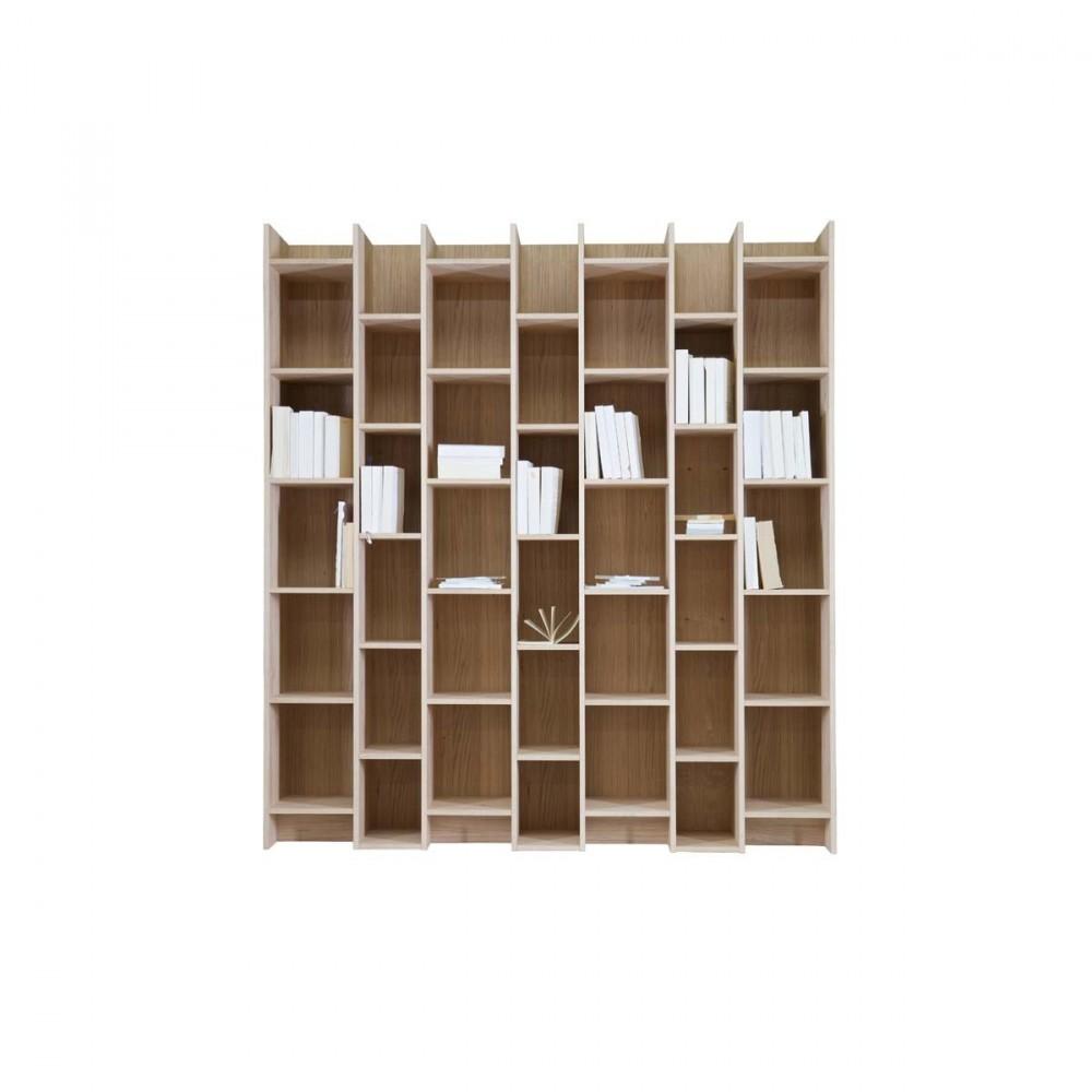 biblioth que design 3 colonnes en bois massif klasina drawer. Black Bedroom Furniture Sets. Home Design Ideas
