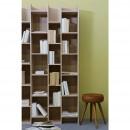 Bibliothèque design 3 colonnes en chêne Klasina