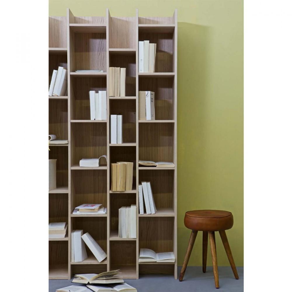 Biblioth Que Design 3 Colonnes En Bois Massif Klasina Drawer # Meuble Bibliotheque Design Contemporain