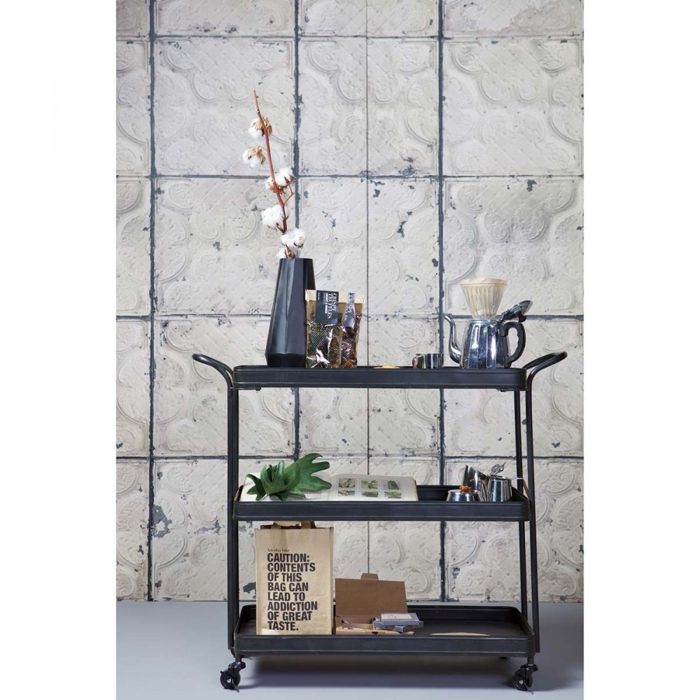 beautiful desserte roulettes en mtal tea with desserte a roulette. Black Bedroom Furniture Sets. Home Design Ideas
