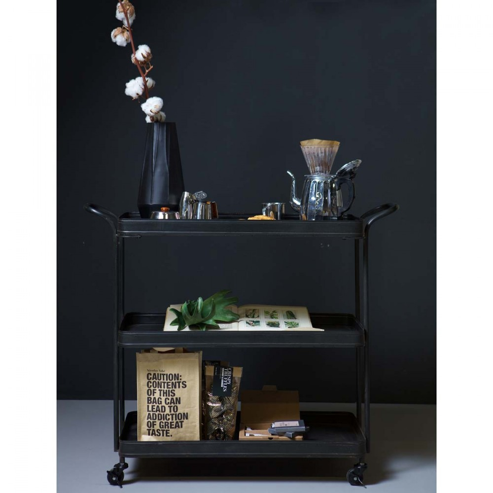 desserte roulettes en m tal tea par. Black Bedroom Furniture Sets. Home Design Ideas