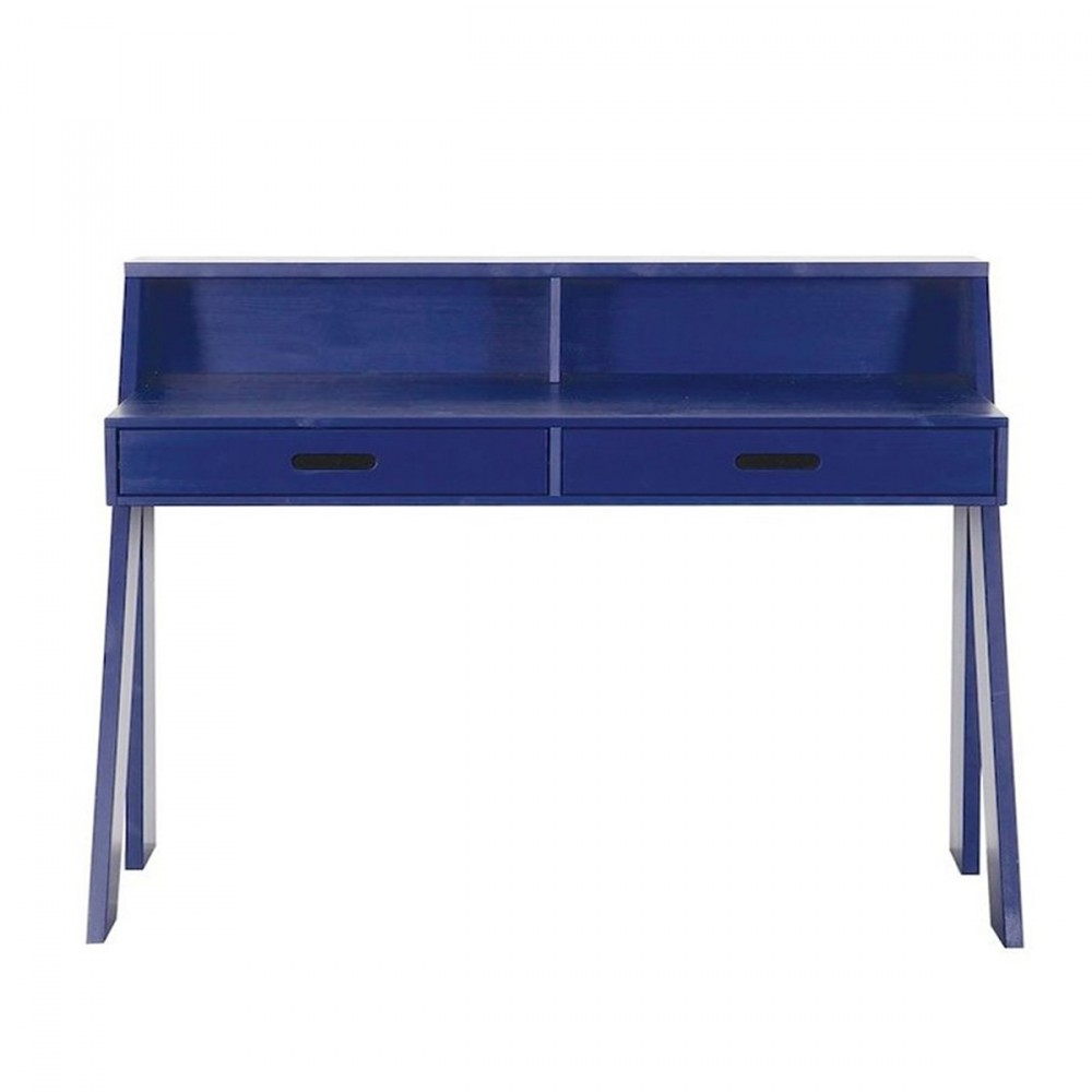 table de bureau en pin bleu ou blanc ewout. Black Bedroom Furniture Sets. Home Design Ideas