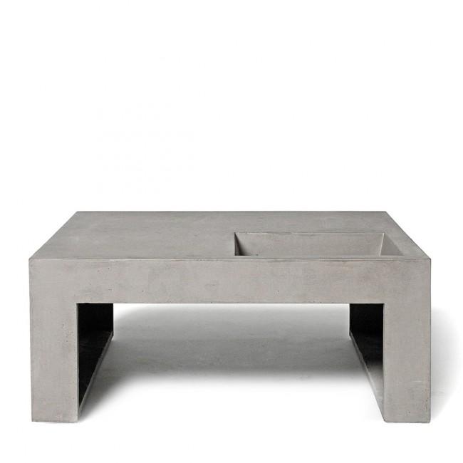 Table basse Lyon Béton grise carrée design Green