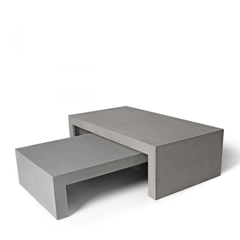 Table basse bloc beton - Table basse aspect beton ...