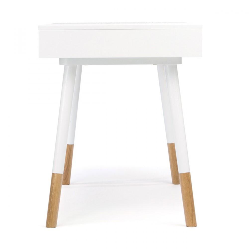 Bureau Design Bois Et Blanc : Bureau design bois et blanc Sonnenblick de Woodman