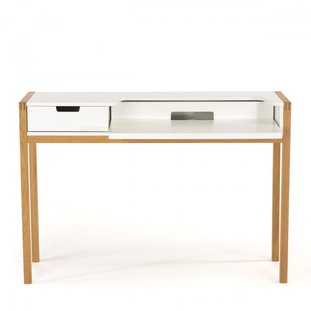 Bureau scandinave farringdon par for Table scandinave blanc et bois