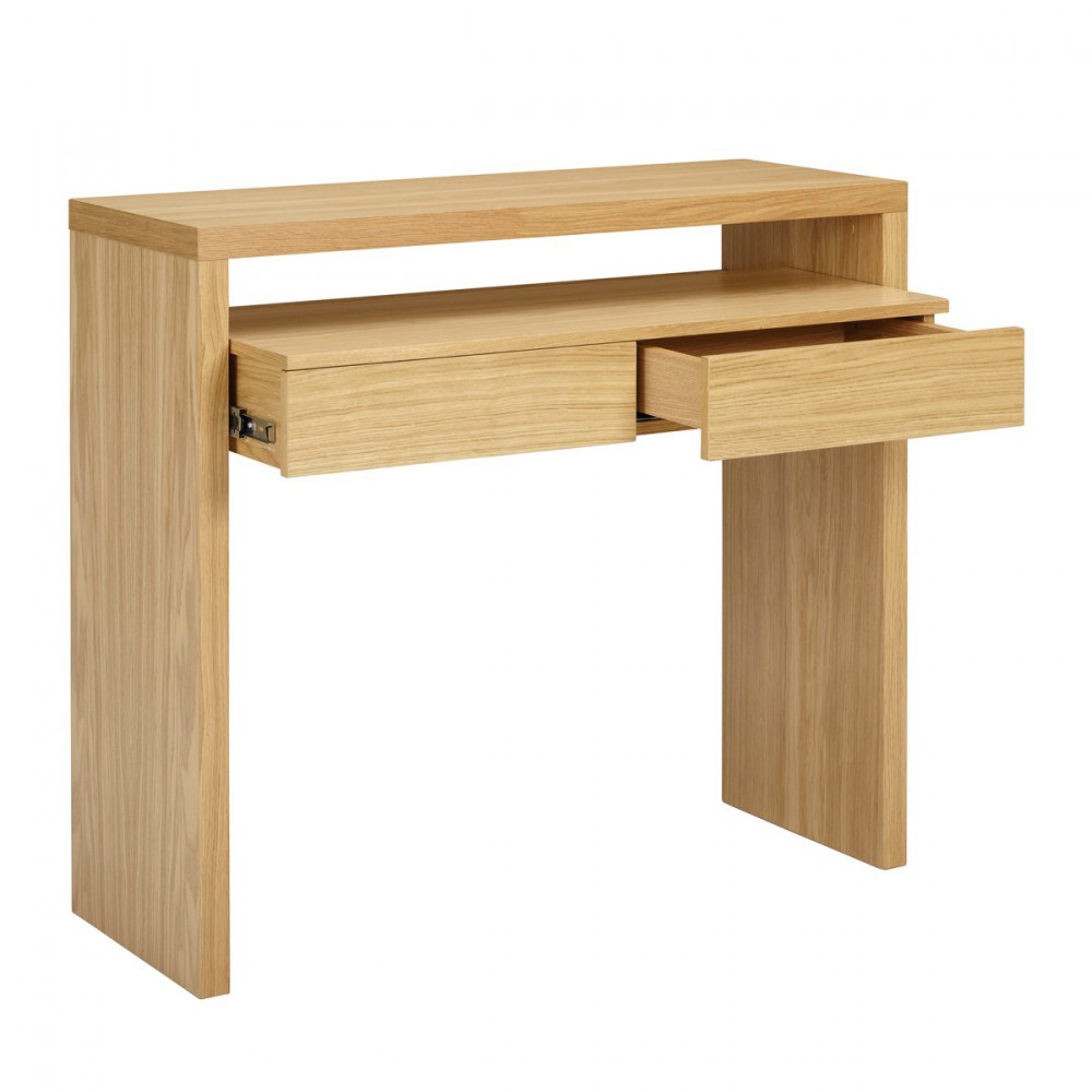 Console contemporaine pratique 2 tiroirs blum for Console de bureau