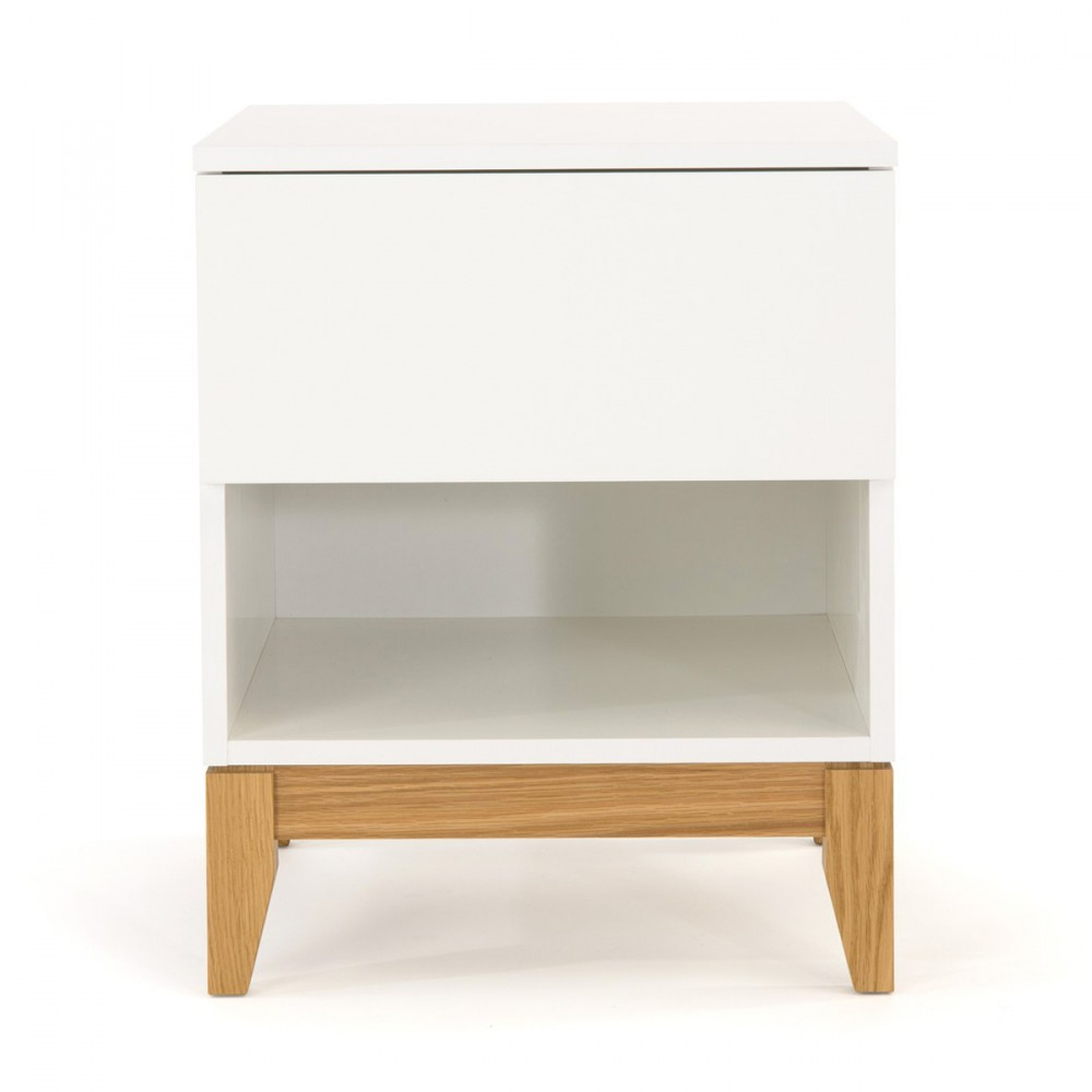 Table d 39 appoint scandinave pratique blanco drawer - Table appoint design ...