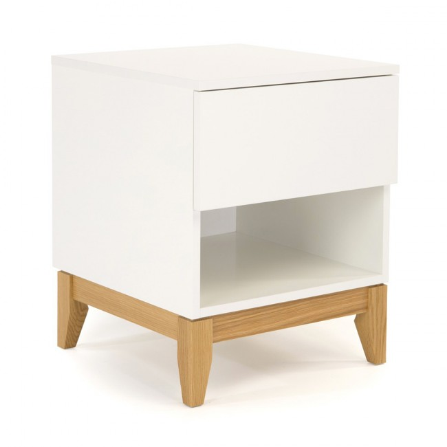 Table d'appoint design scandinave 1 niche Blanco