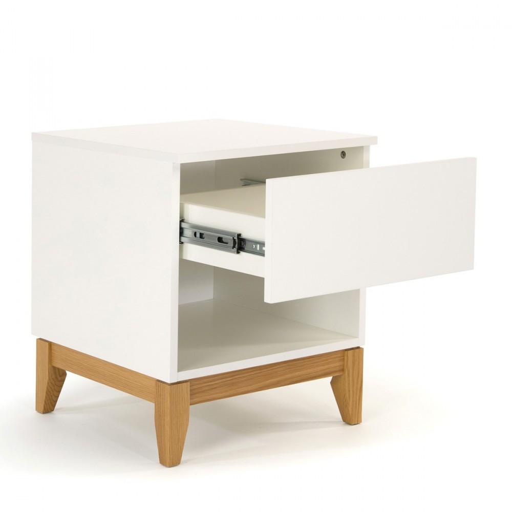 table d 39 appoint scandinave pratique blanco drawer. Black Bedroom Furniture Sets. Home Design Ideas