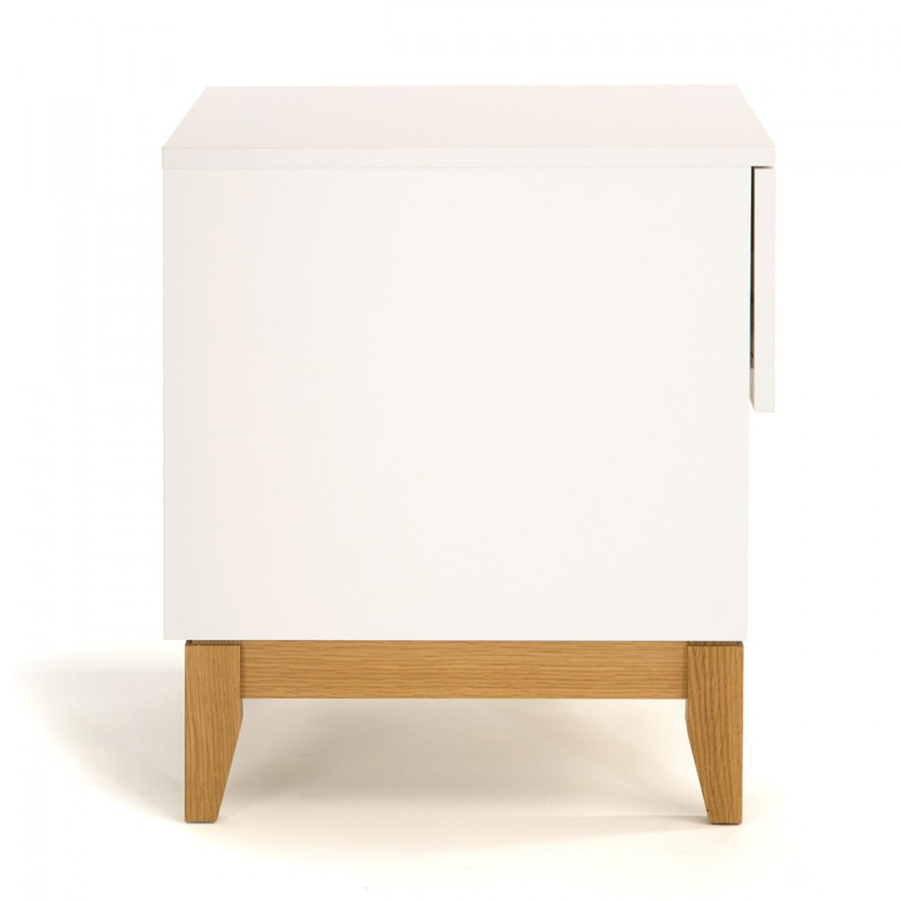 Table d 39 appoint scandinave pratique blanco drawer for Table d appoint miroir