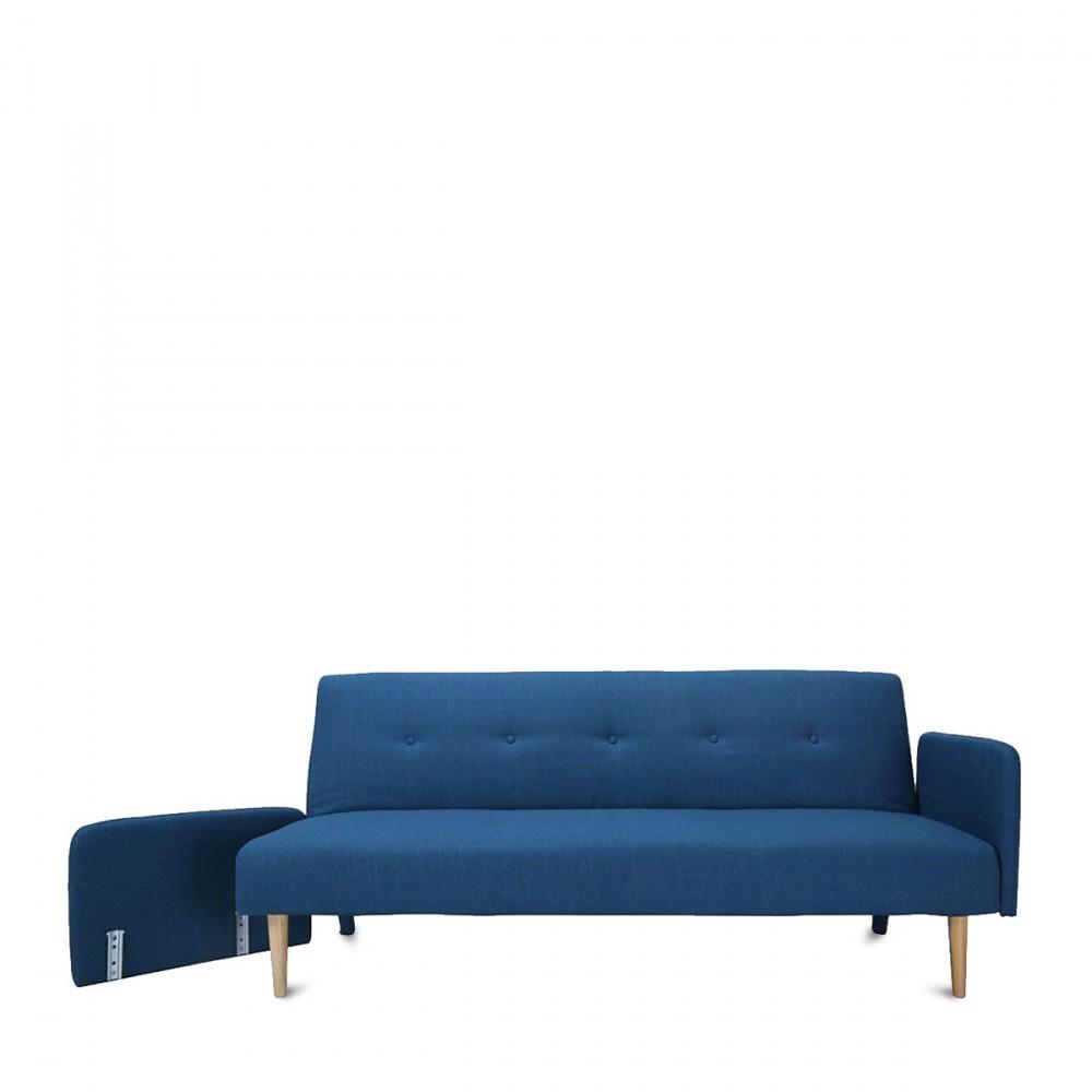canap lit niels bleu au design scandinave. Black Bedroom Furniture Sets. Home Design Ideas