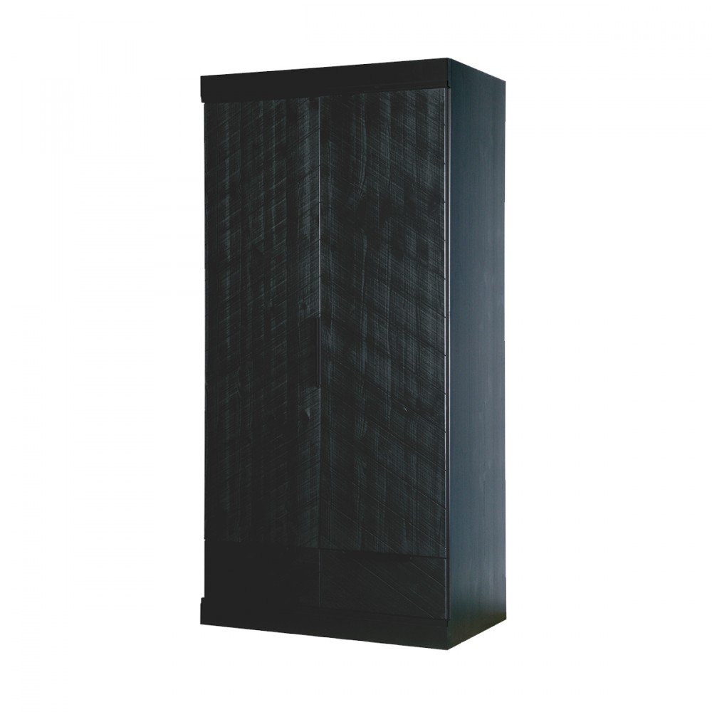 armoire 2 portes 2 tiroirs bois chevron par. Black Bedroom Furniture Sets. Home Design Ideas