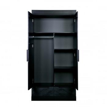 Armoire dressing et penderies en bois massif drawer for Petite armoire avec tiroir