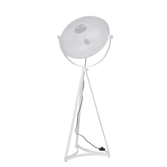 Lampadaire indus métal blanc Blown Projector