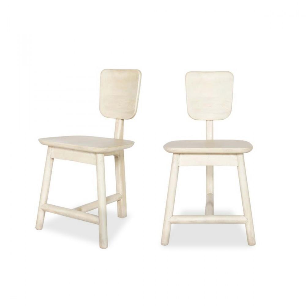 lot de 2 chaises 3 pieds en bois roost. Black Bedroom Furniture Sets. Home Design Ideas