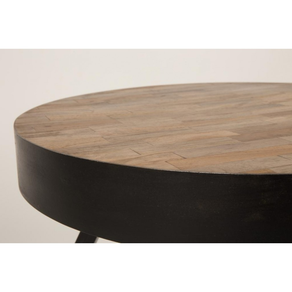 table basse ronde 45 cm en teck recycl suri small. Black Bedroom Furniture Sets. Home Design Ideas