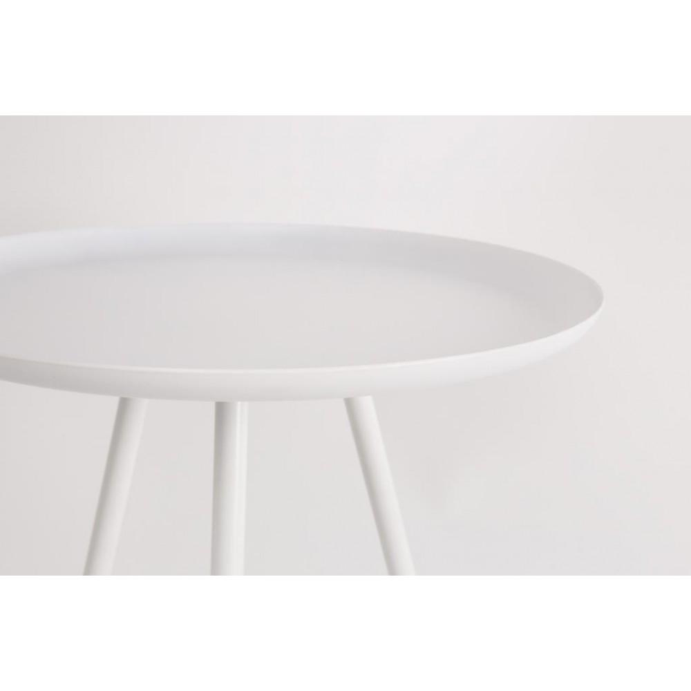 Table d\'appoint en acier laqué Frost par Drawer.fr