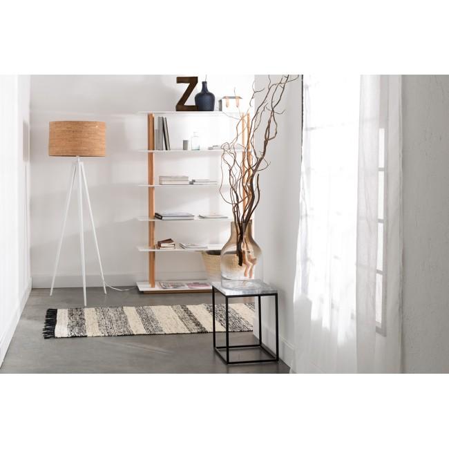 Tapis couloir vintage noir et blanc Fox 80x200