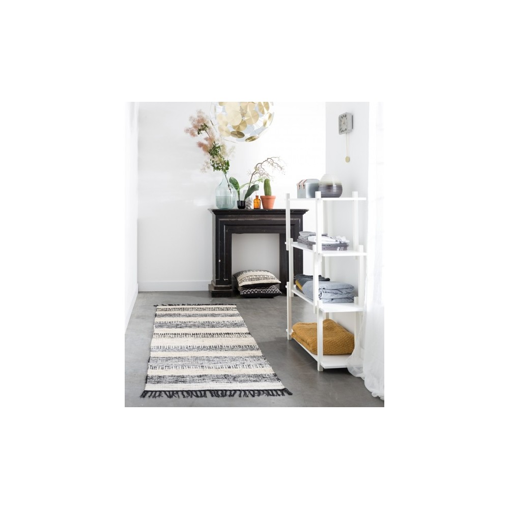 tapis couloir vintage gris et beige fox zuiver. Black Bedroom Furniture Sets. Home Design Ideas