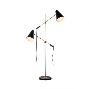 Lampe à poser Astor noir et cuivre de Drawer